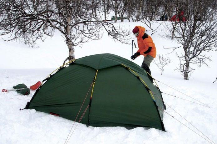 ヒルバーグのテントを雪山で使用