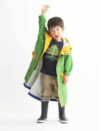 エーグルのレインブーツを履いた男の子のコーデ画像