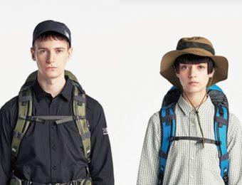 UVカット帽子をかぶった男女