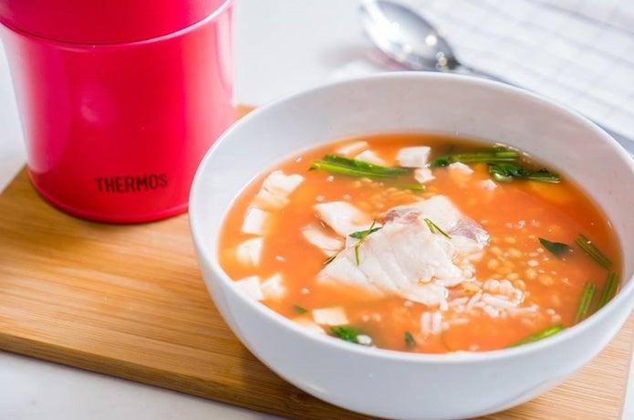 サーモススープジャーで熱々のスープ