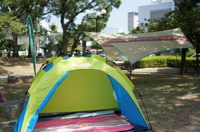 ロゴスのテントをシェルターとして使用