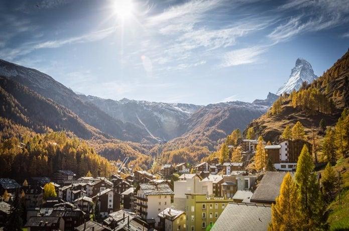 ツェルマットの町の風景