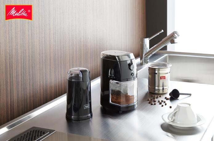 電動のコーヒーミルの画像