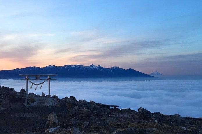 霧ヶ峰の車山山頂からの景色