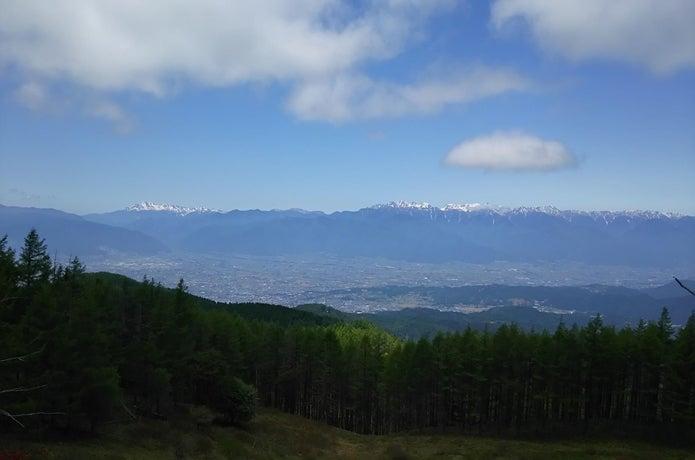 美ケ原から見た北アルプス