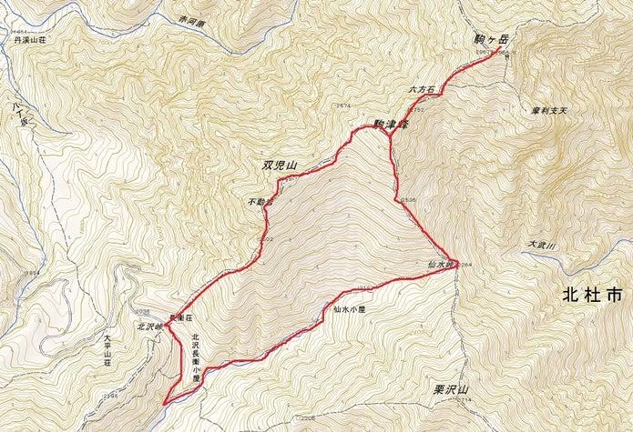 甲斐駒ヶ岳登山ルート