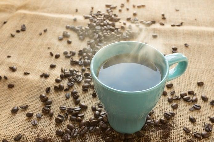コーヒーとコーヒー豆の画像