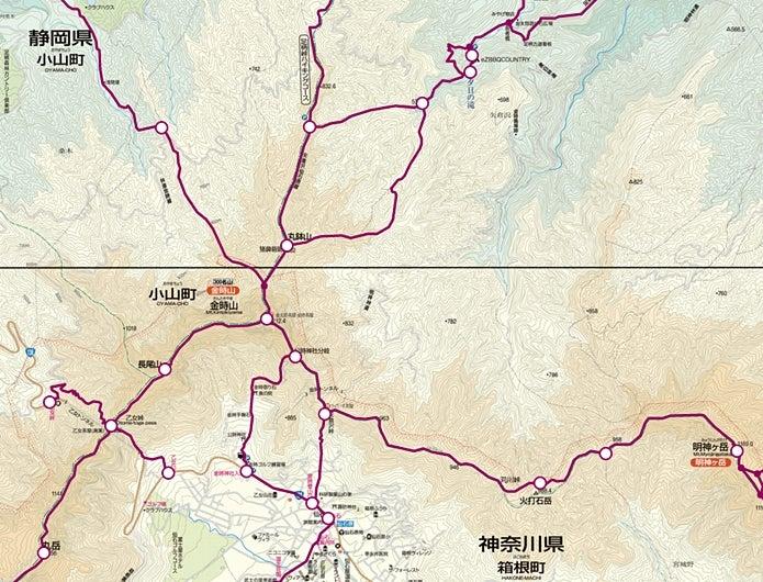 金時山のルート図