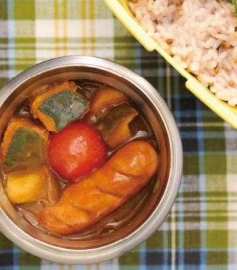 サーモススープジャーで作ったカレー画像