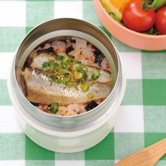サーモスのスープジャーで作ったオイルサーディンどんぶりの画像