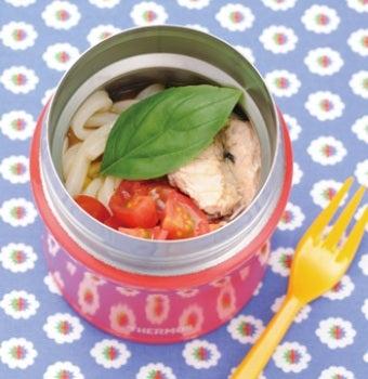 サーモススープジャーで作ったトマトうどんの画像