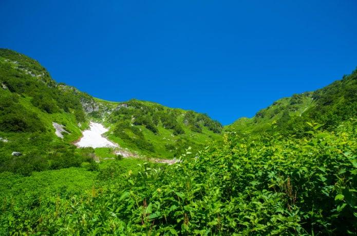夏の穂高連峰