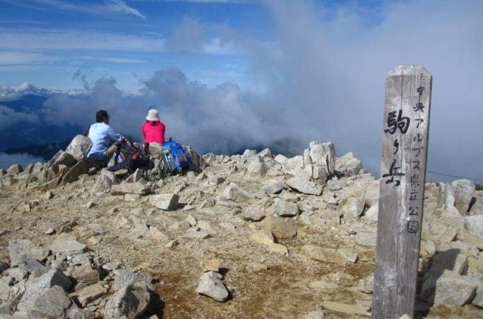 木曽駒ヶ岳の頂上