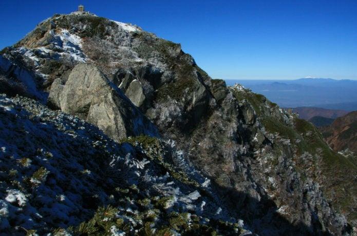 黒戸尾根から見た甲斐駒ヶ岳