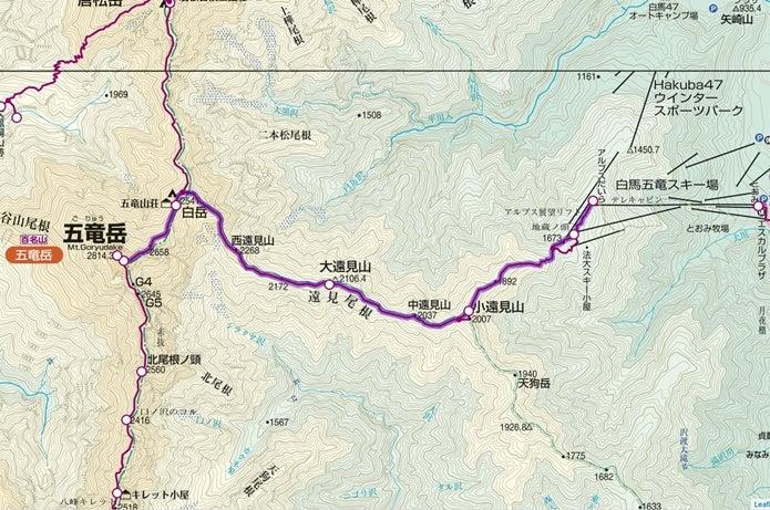 五竜岳ルート図