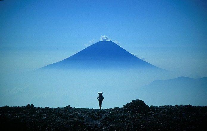 間ノ岳から見た富士山