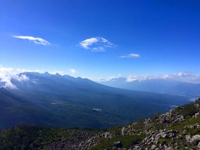 蓼科山山頂からの眺めの画像