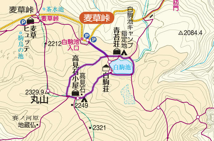 白駒池~高見石登山コースの画像