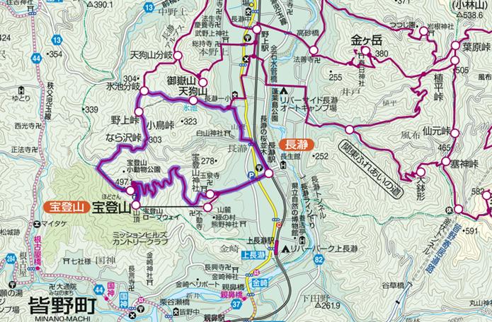 長瀞駅から宝登山登山コースの画像