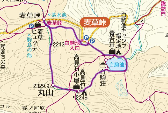 麦草峠から白駒池登山コースの画像