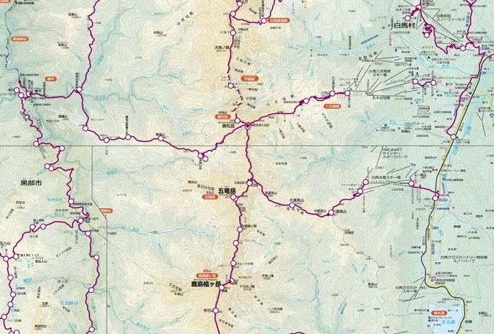 五竜岳周辺のルート図