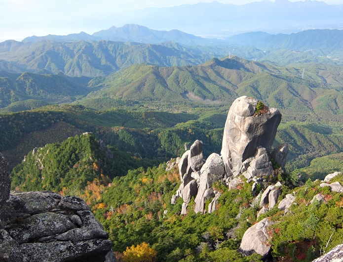 瑞牆山山頂からの眺め
