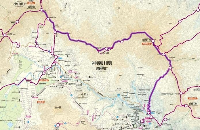明神ヶ岳コースルート図