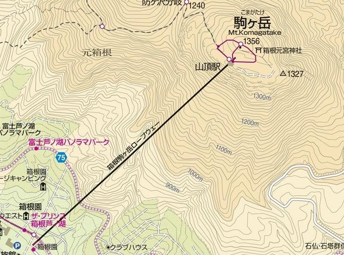 箱根駒ヶ岳ロープウェイルート図