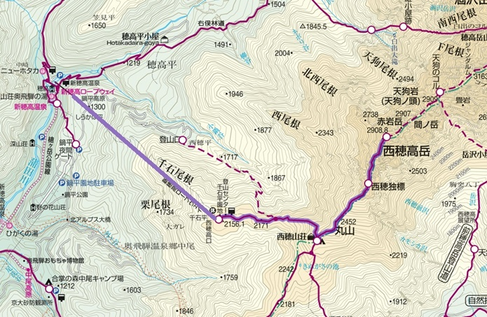 西穂高コース1