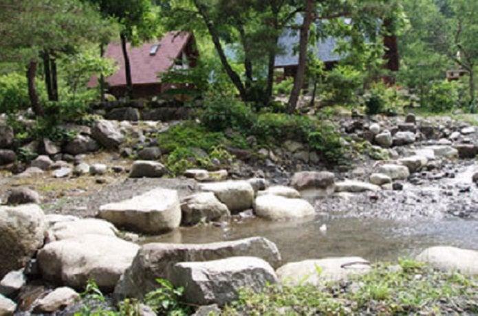 小黒川渓谷キャンプ場の川