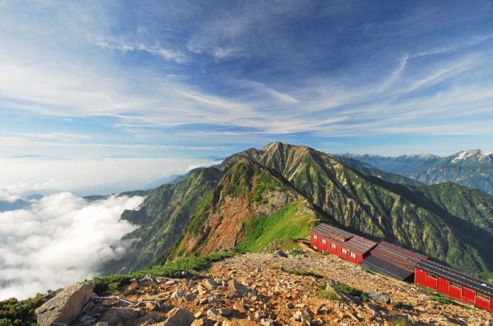 夏の後立山連峰「唐松岳」