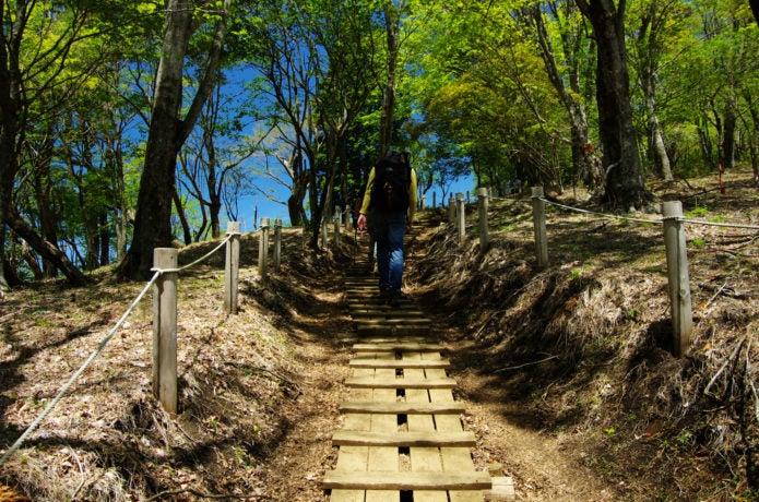 塔ノ岳に向かう登山者