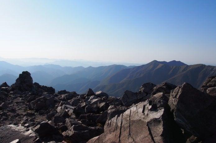 那須岳山頂からの眺めの画像