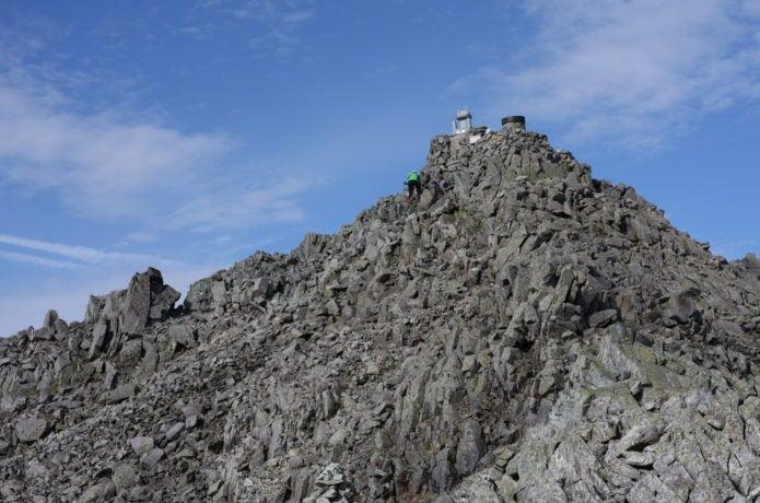 奥穂高岳山頂付近の画像
