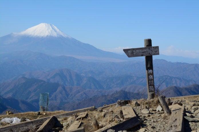 塔ノ岳山頂からの富士山