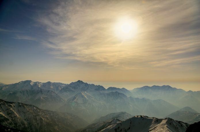 五竜岳頂上からのパノラマ眺望