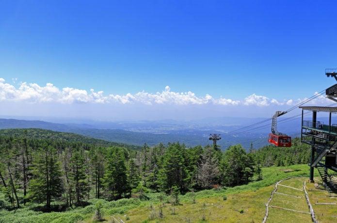 縞枯山の山麓まで行ける北八ヶ岳ロープウェイの画像