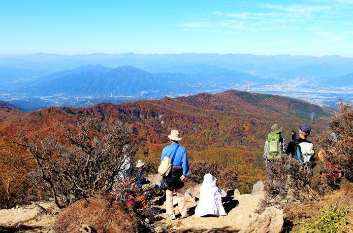 赤城山山頂からの眺め
