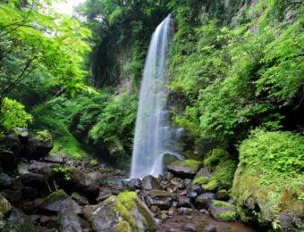 金時山夕日の滝