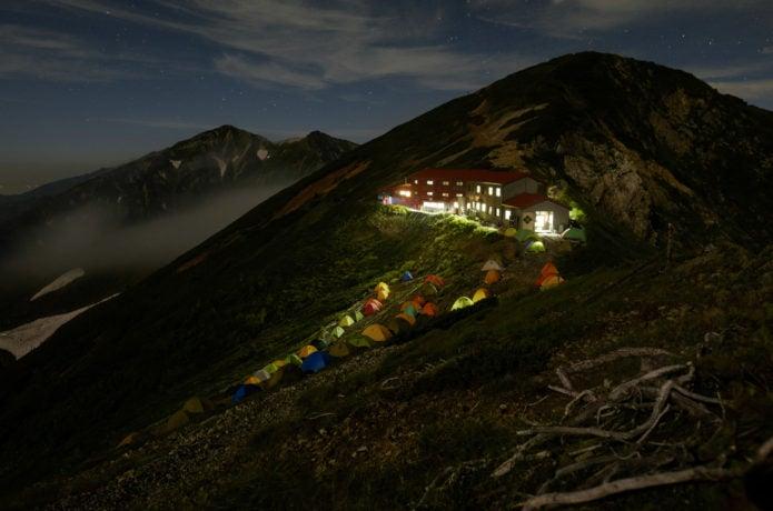 五竜山荘の夜