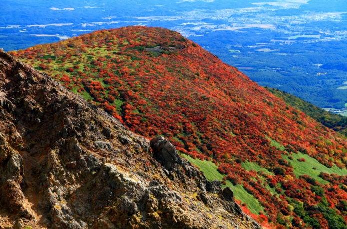 紅葉した那須岳の画像