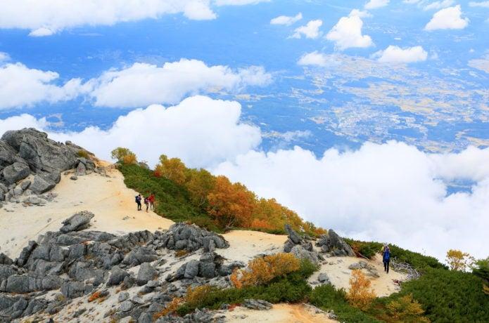 観音岳の登山道