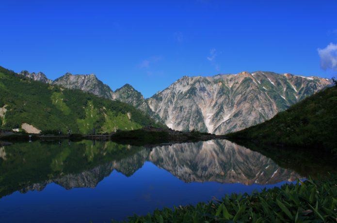 白馬エリアの唐松岳の画像