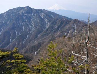 富士山と三ツ峠山