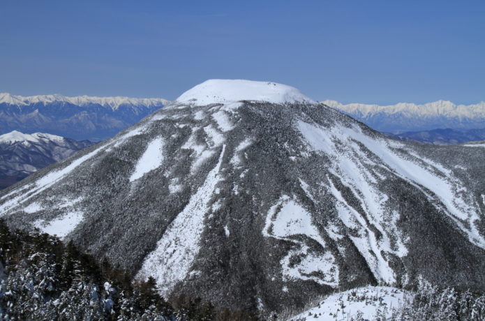 冬の蓼科山画像