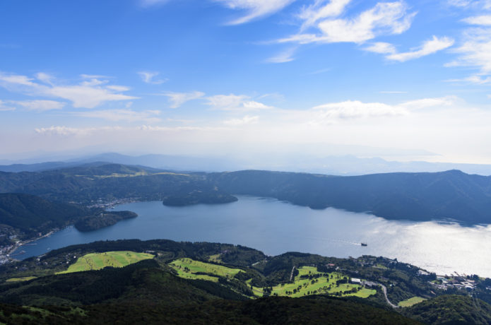 箱根駒ヶ岳から見る芦ノ湖