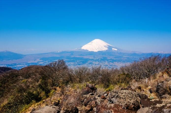金時山から見る富士山