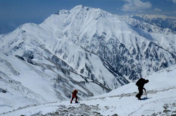 五竜岳の積雪期登山