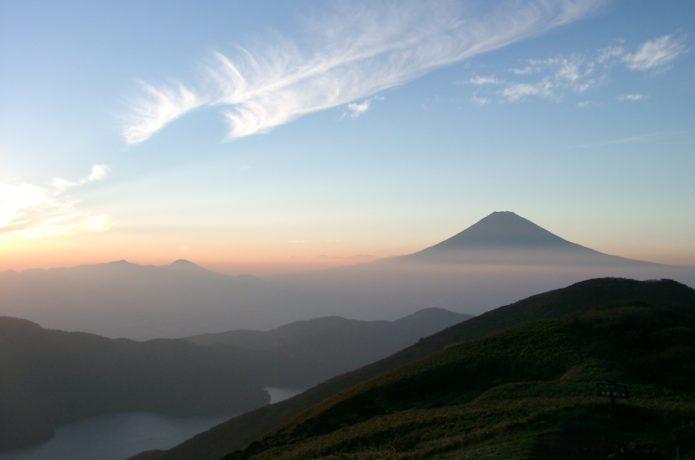 箱根駒ヶ岳から見る夕日