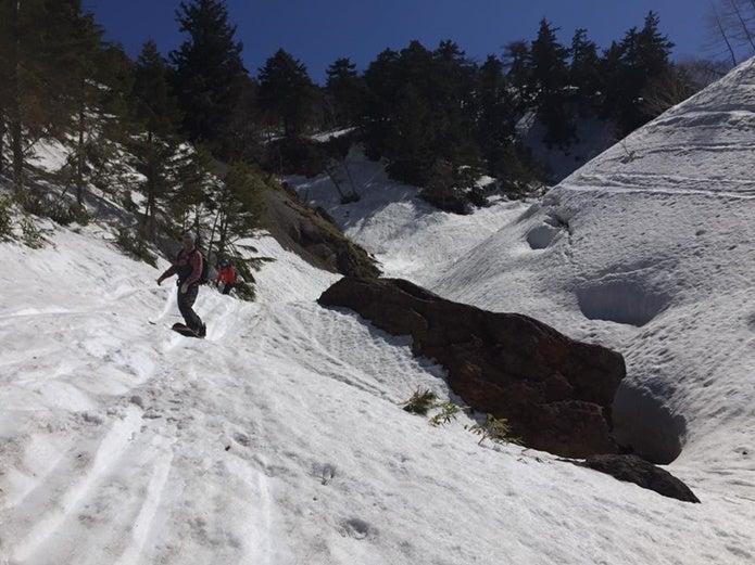 至仏山でスノーボード